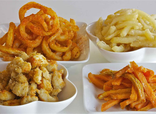 Fries and nuggets