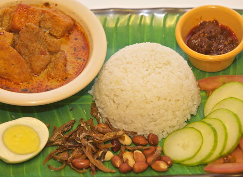 Nasi Lemak Fish Curry