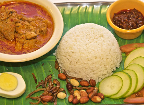 Nasi Lemak Chicken Curry